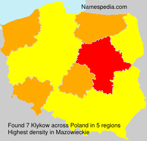 Surname Klykow in Poland