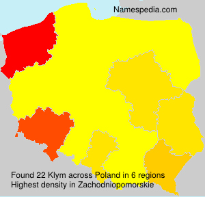 Surname Klym in Poland
