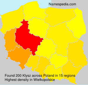 Surname Klysz in Poland