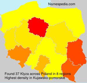 Familiennamen Klyza - Poland