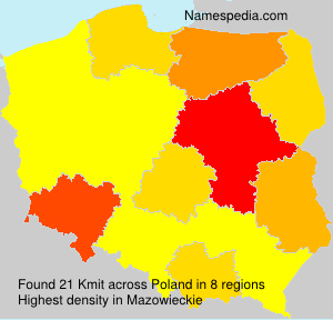 Surname Kmit in Poland
