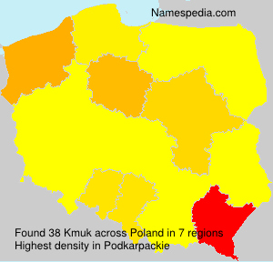 Surname Kmuk in Poland