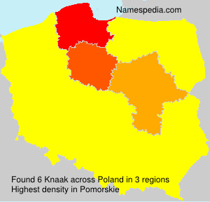 Surname Knaak in Poland
