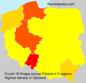 Surname Knapa in Poland