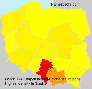 Surname Knapek in Poland