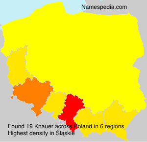 Surname Knauer in Poland