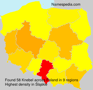 Surname Knebel in Poland