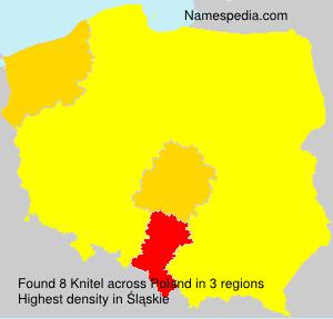 Surname Knitel in Poland
