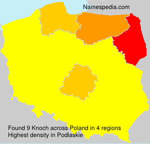 Surname Knoch in Poland