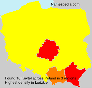 Familiennamen Knytel - Poland
