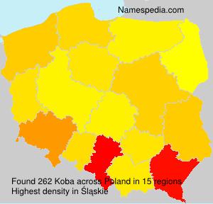 Familiennamen Koba - Poland