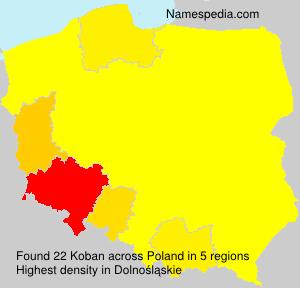 Surname Koban in Poland