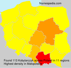 Surname Kobylarczyk in Poland