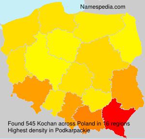 Surname Kochan in Poland