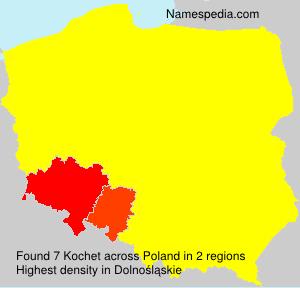 Surname Kochet in Poland