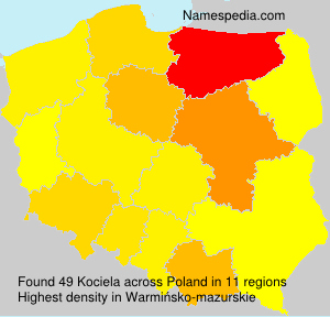 Surname Kociela in Poland