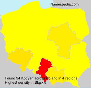 Surname Kocyan in Poland