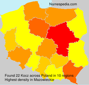 Familiennamen Kocz - Poland