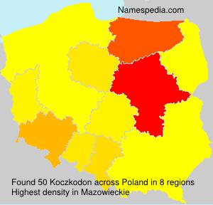 Surname Koczkodon in Poland