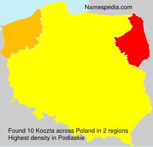 Familiennamen Koczta - Poland