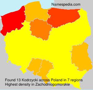Surname Kodrzycki in Poland