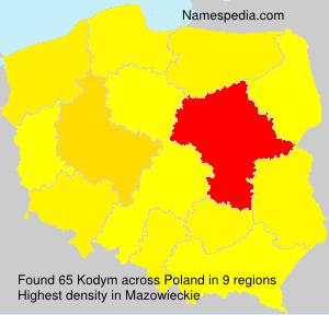 Surname Kodym in Poland
