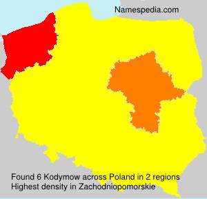 Familiennamen Kodymow - Poland