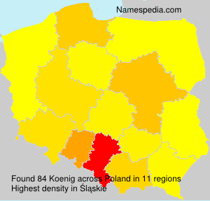 Familiennamen Koenig - Poland
