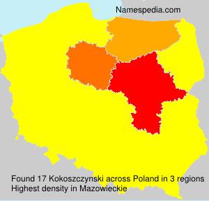 Surname Kokoszczynski in Poland