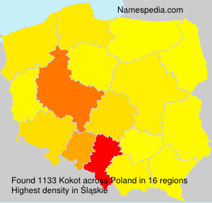 Surname Kokot in Poland