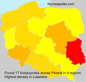 Familiennamen Kolaszynska - Poland