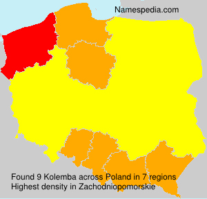 Surname Kolemba in Poland