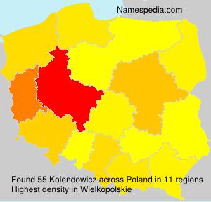 Familiennamen Kolendowicz - Poland