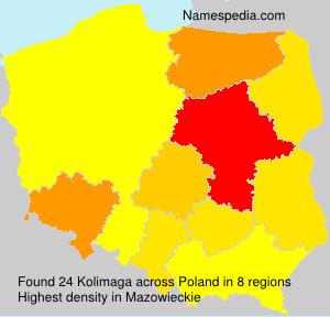 Surname Kolimaga in Poland