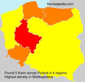 Familiennamen Kolm - Poland