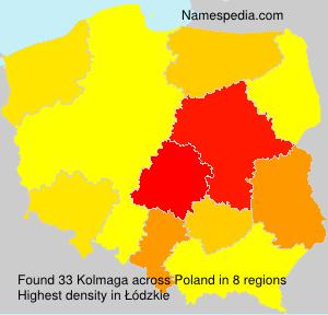 Surname Kolmaga in Poland