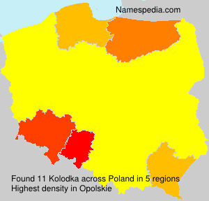 Familiennamen Kolodka - Poland
