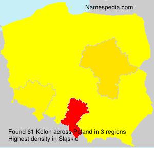 Surname Kolon in Poland