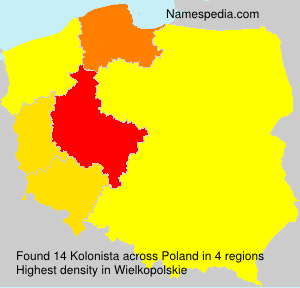 Surname Kolonista in Poland