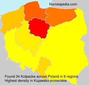 Surname Kolpacka in Poland