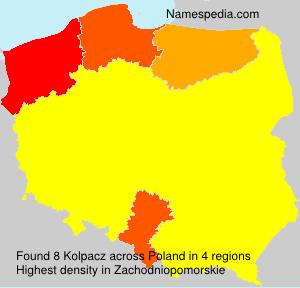 Surname Kolpacz in Poland