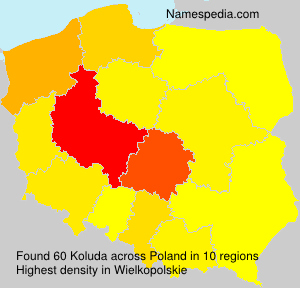 Surname Koluda in Poland
