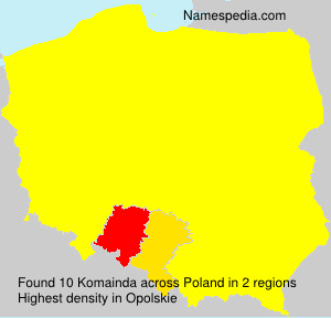 Surname Komainda in Poland