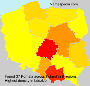Surname Komala in Poland