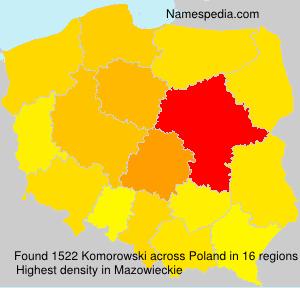 Familiennamen Komorowski - Poland