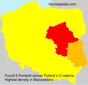 Familiennamen Kompolt - Poland