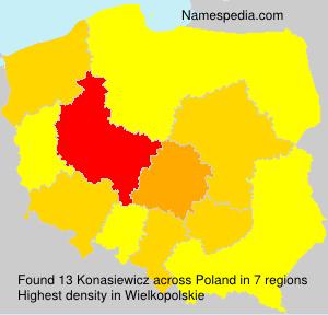 Surname Konasiewicz in Poland