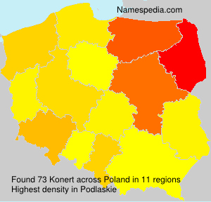 Surname Konert in Poland