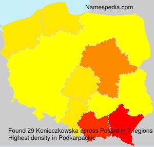 Familiennamen Konieczkowska - Poland