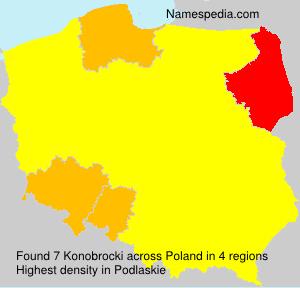Surname Konobrocki in Poland